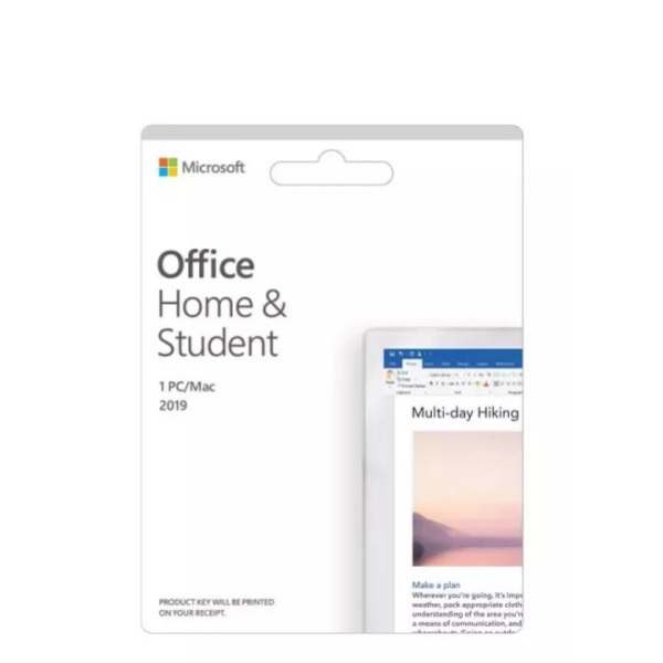 Picture of MICROSOFT OFFICE HOME AND STUDENT 2019 ESD (ELECTRONIC SOFTWARE) 79G-05020